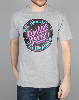 Santa Cruz Cali Dot T-Shirt - Dark Heather
