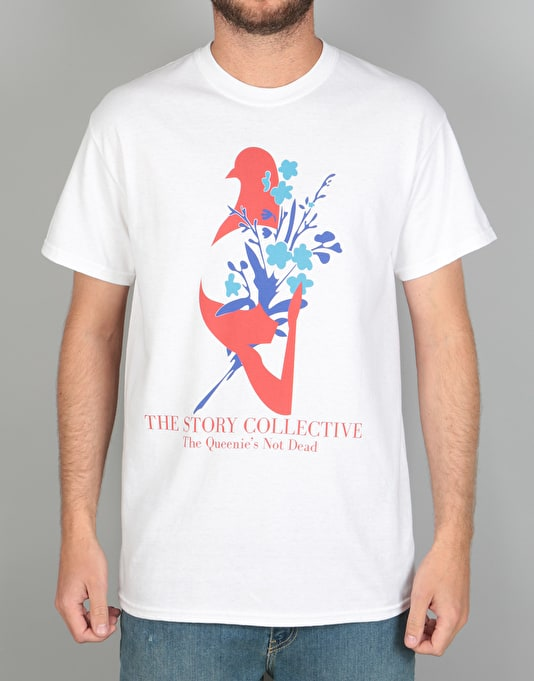 The Story Collective Queenies Not Dead T-Shirt - White