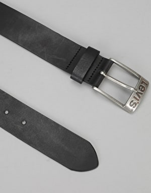 Levis Duncan Leather Belt - Regular Black