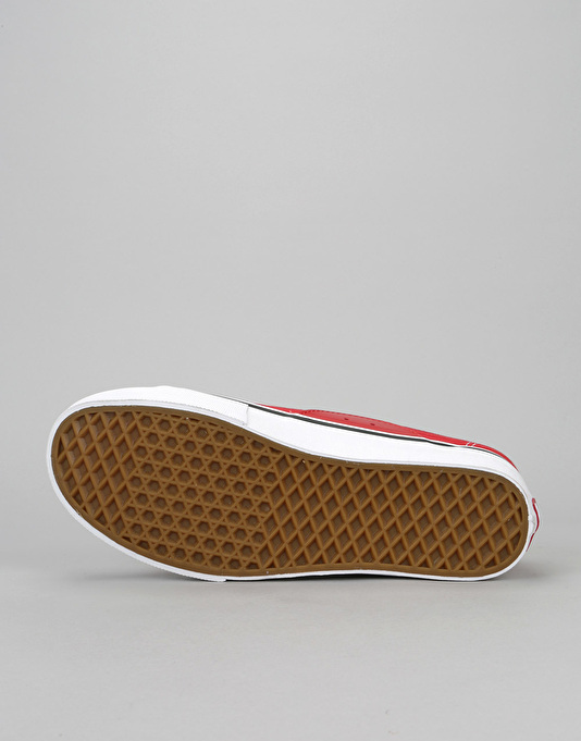 Vans AV Classic Skate Shoes - Red/White
