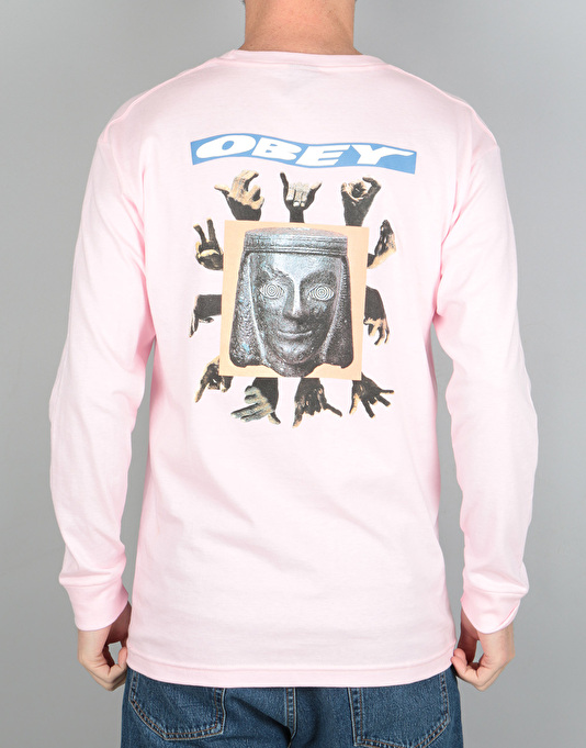 Obey Artifacts L/S T-Shirt - Pink