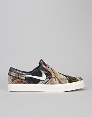 Nike SB Stefan Janoski Slip On Canvas Skate Shoes - Multi-Color/White