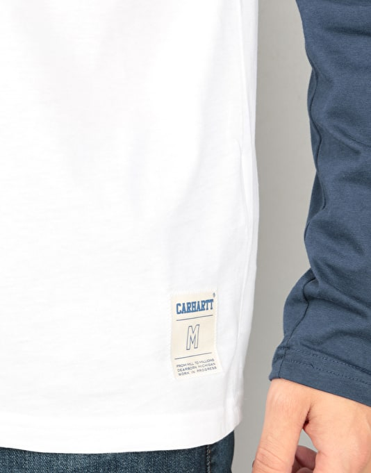 Carhartt L/S Strike T-Shirt - White/Blue
