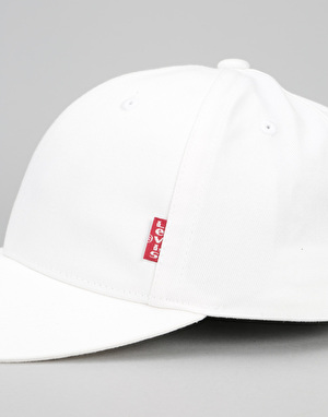 Levis Classic Twill Red Tab Baseball Cap - White