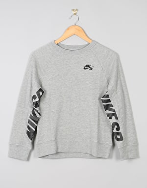 Nike SB Everett Boys Sweatshirt - Dark Grey Heather