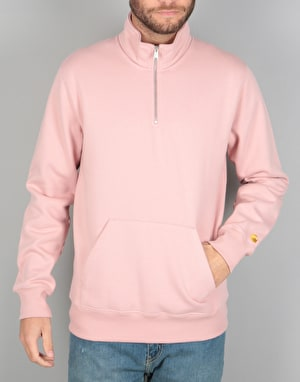 Carhartt Chase Neck Zip Sweatshirt - Soft Rose