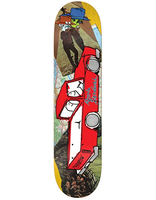 """Krooked Ronnie Tore Up Skateboard Deck - 8.25"""""""
