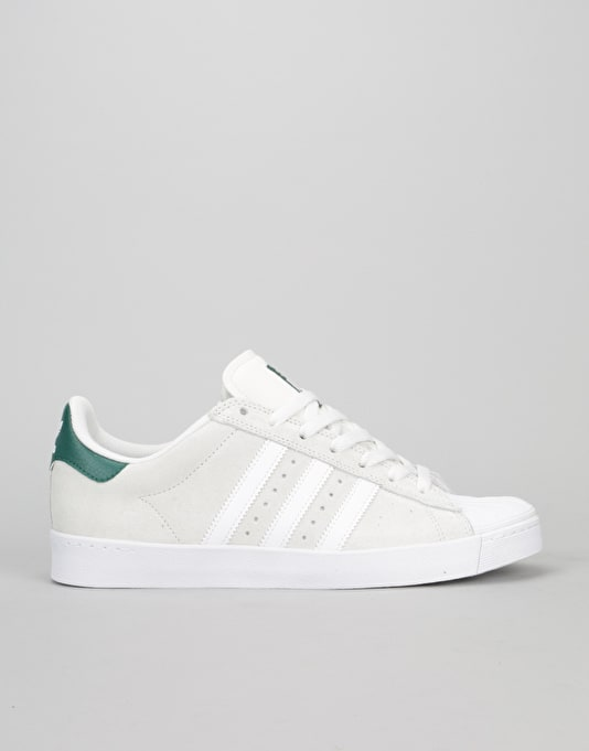 Adidas Superstar Vulc ADV Skate Shoes - Crystal White/White/Green