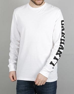 Carhartt L/S College Left LT T-Shirt - White/Black