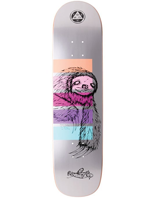 Welcome Sloth on Bunyip Skateboard Deck - 8""