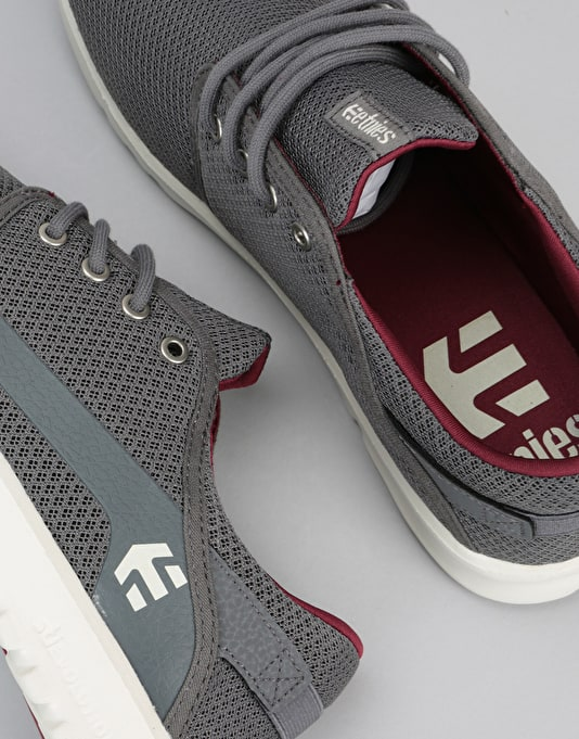 Etnies Scout Shoes - Grey/Red/White
