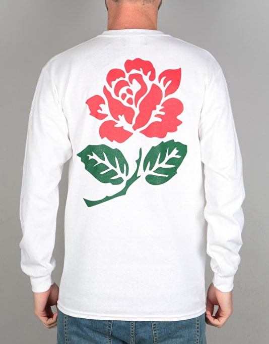 Route One Rose Longsleeve T-Shirt - White