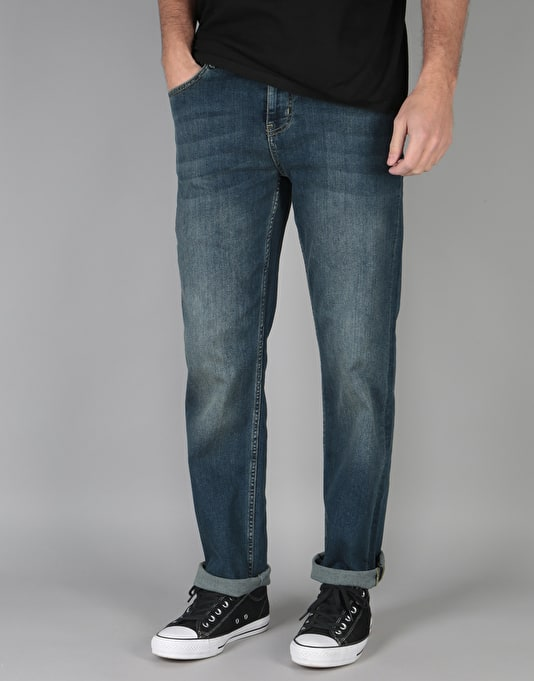 Route One Relaxed Denim Jeans - Mid Wash