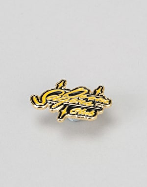 Doom Sayers Sacto Script Pin - Black/Yellow Enamel