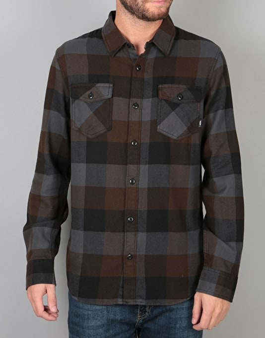 Vans Box Flannel L/S Shirt - Black/Asphalt