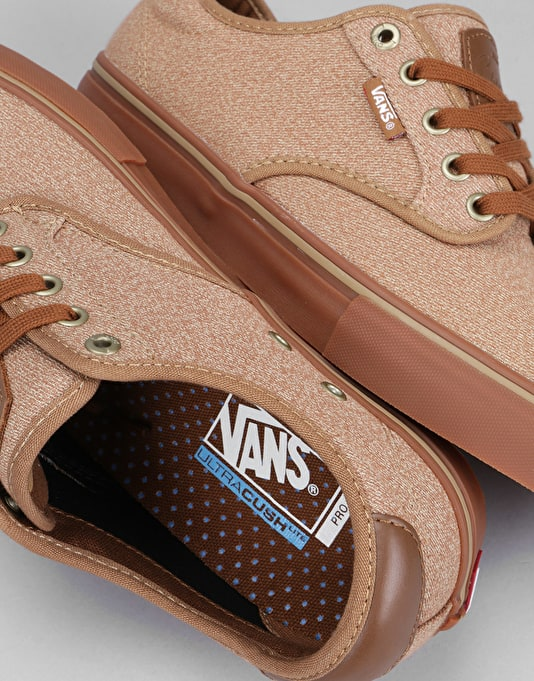 Vans Chima Ferguson Pro Skate Shoes - (Covert Twill) Khaki/Brown