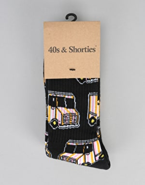 40's & Shorties Ice Cream Truck Socks - Black