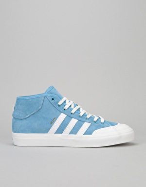 Adidas x MJ Matchcourt Mid Skate Shoes - Light Blue/Neo White/Gold Met