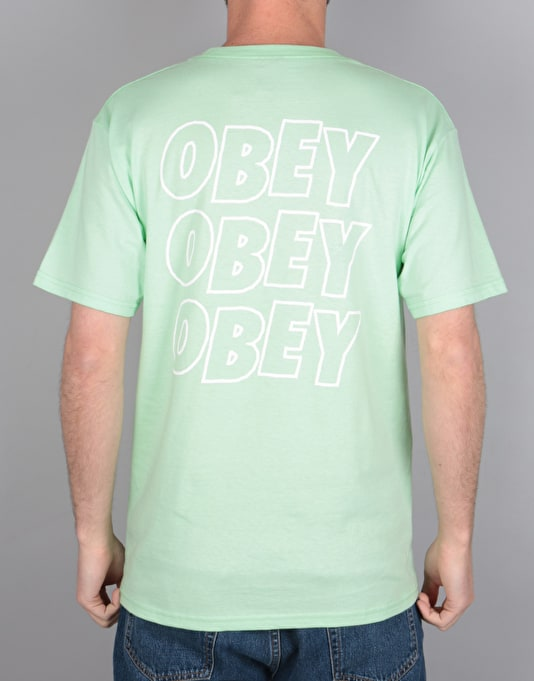 Obey Jumble Lo-Fi T-Shirt - Mint