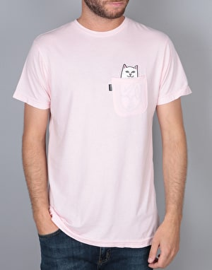 RIPNDIP Lord Nermal Pocket T-Shirt - Baby Pink