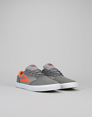 Lakai Pico Boys Skate Shoes - Grey/Orange Suede