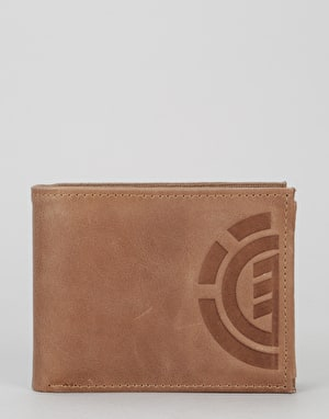 Element Daily Leather Wallet - Brown