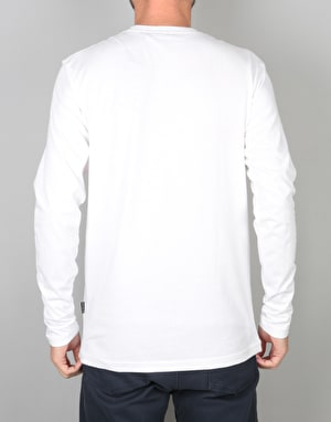 Nicce Chest Logo L/S T-Shirt - White