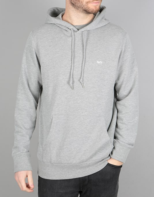 Obey Midway Pullover Hoodie - Heather Grey