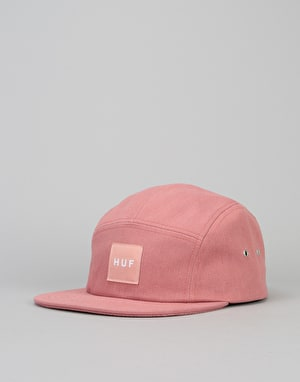 HUF Box Logo Volley 5 Panel Cap - Salmon