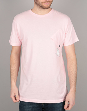 RIPNDIP Hang In There Pocket T-Shirt - Pink