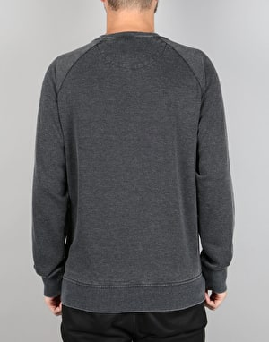 Burton Retro Mountain Crew Sweatshirt - True Black Heather