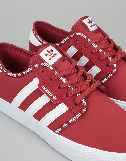 Adidas Seeley Boys Skate Shoes - Mystery Red/Mystery Red/White