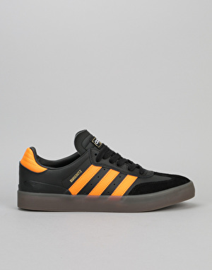 Adidas Busenitz Vulc Samba Skate Shoes - Core Black/Natural/Orange