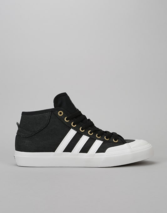 adidas Originals MATCHCOURT MID - High-top trainers - core black/white PgQnN8kMA