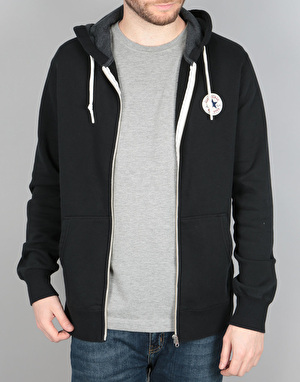 Converse Core Full Zip Hoodie - Black