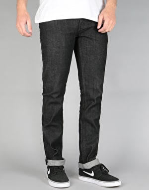 Etnies E1 Slim Denim Jeans - Black Raw