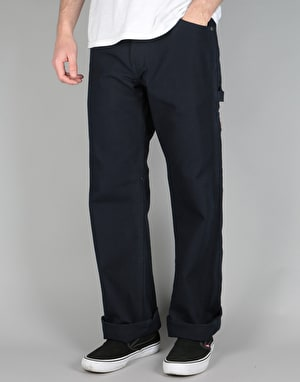 Ben Davis Original Single Knee Carpenter Work Pants - Navy