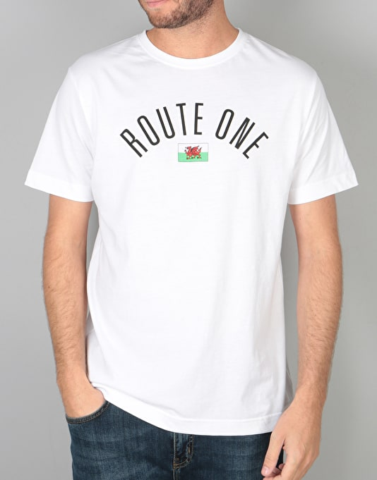 Route One Welsh Arch Logo T-Shirt - White