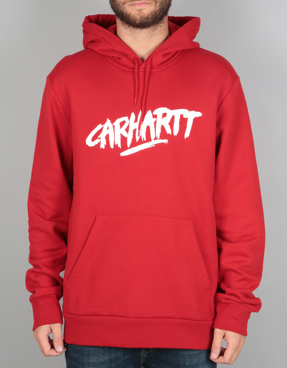 carhartt hooded painted script sweatshirt rosehip white skate pullover hoodies mens. Black Bedroom Furniture Sets. Home Design Ideas