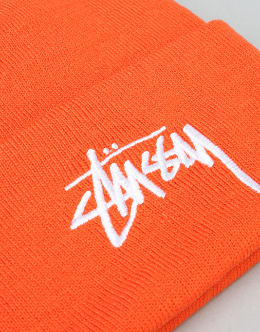 Stüssy Stock Cuff Beanie - Orange