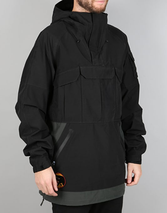 Analog Highmark 2017 Snowboard Anorak - Black/Dark Charcoal