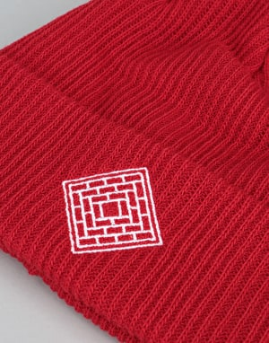 The National Skateboard Co. Double Fold/Logo Beanie - Red