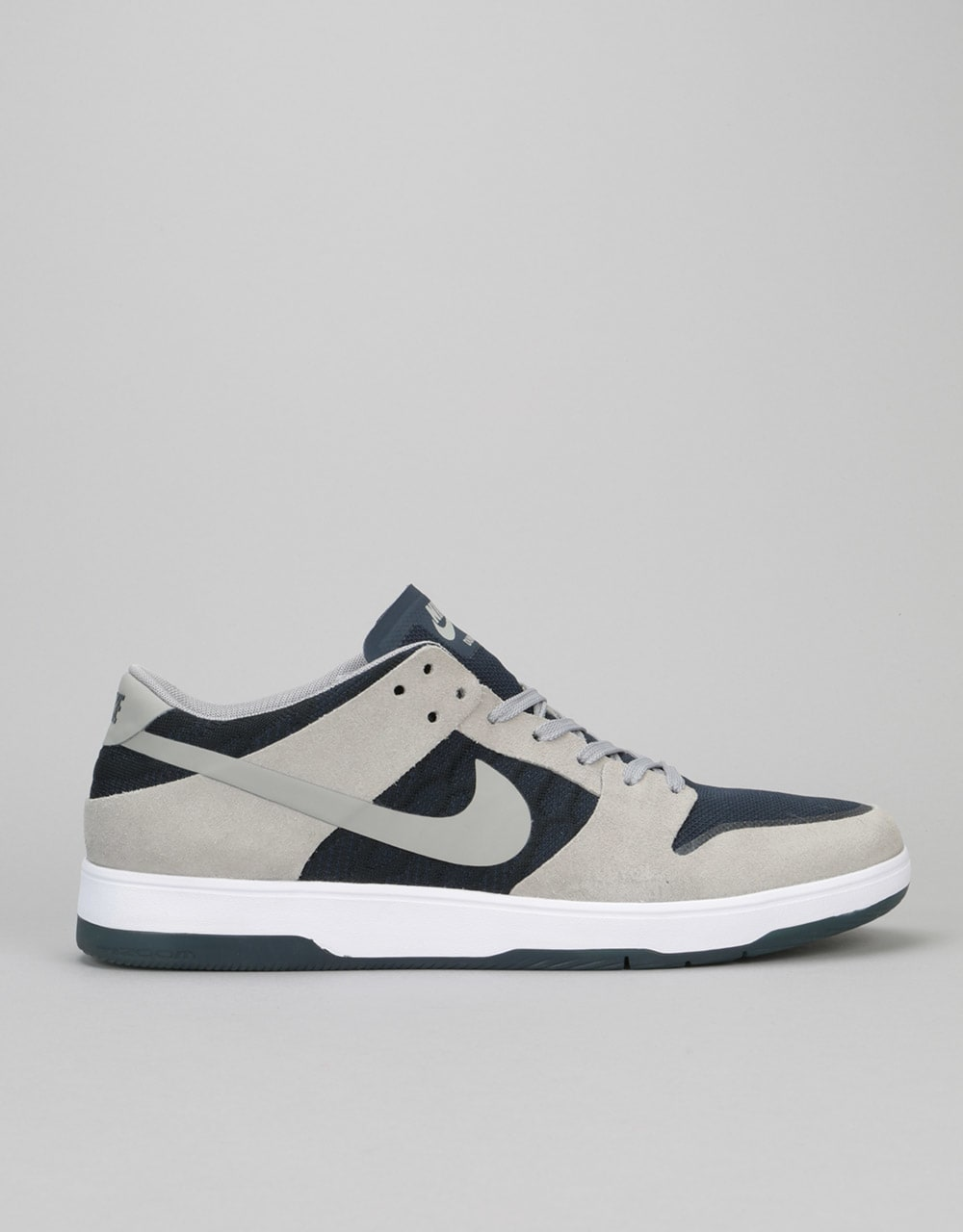 be079ac98f8b Nike SB Zoom Dunk Low Elite Skate Shoes - Medium Grey Obsidian White ...