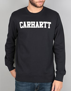 Carhartt College Sweat - Dark Navy/White