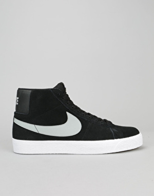 Nike SB Blazer Premium Skate Shoes - Black/Base Grey-White