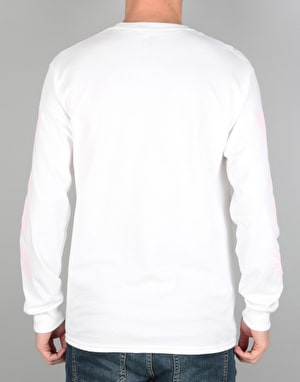 The National Skateboard Co. Flowers L/S T-Shirt - White