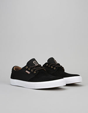 State Elgin Skate Shoes - Black/Brown Suede/Canvas
