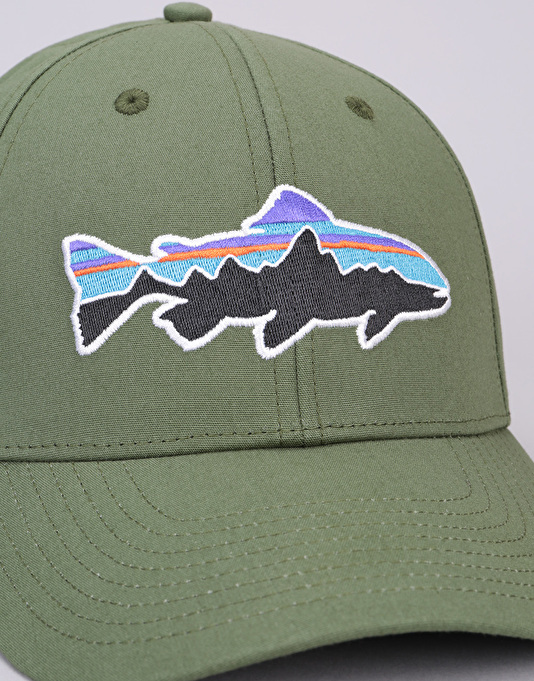 Patagonia Fitz Roy Trout Stretch Fit Cap - Buffalo Green