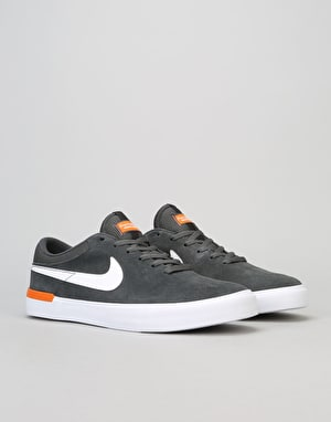 Nike SB Koston Hypervulc Skate Shoes - Anthracite/White-Clay Orange