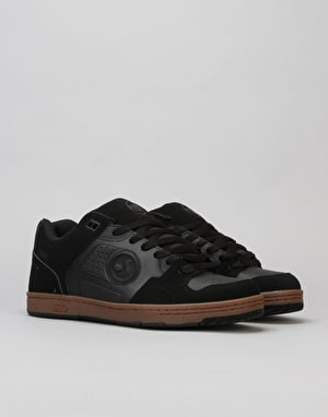 DVS Discord Skate Shoes - Black Gum Nubuck